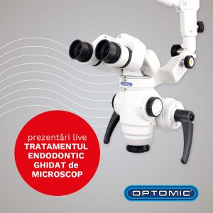 tratament endodontic la microscop optomic