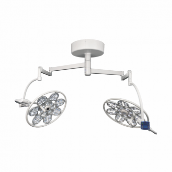 Lampa chirurgicala dubla Emaled 560-560, prindere tavan 2x160.000 lux